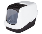 Savic Nestor Hooded Litter Tray Black-cat-The Pet Centre