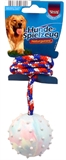 Rubber Throw-Ball + Rope 6cm-rope-and-tug-toys-The Pet Centre