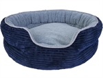 Yours Droolly Indoor Osteo Dog Bed Round Navy XLarge -dog-The Pet Centre