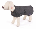 Kazoo Sherlock Coat Charcoal Small 40cm-clothing-The Pet Centre