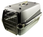 Tigga Basic Pet Carrier Grey-plastic-The Pet Centre