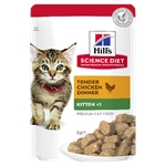 Hill's Science Diet Kitten Healthy Development Chicken Pouch 85g-wet-food-The Pet Centre