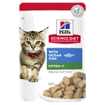 Hill's Science Diet Kitten Healthy Development Ocean Fish Pouch 85g-wet-food-The Pet Centre