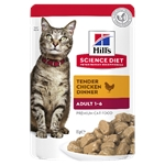 Hill's Science Diet Adult Cat Chicken Pouch 85g-wet-food-The Pet Centre