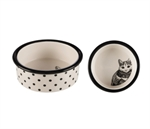 Cat Dish - Zentangle 12cm -bowls-The Pet Centre