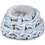 Kazoo Funky Bed Abstract Small 45cm-raised-sides-The Pet Centre