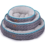 Kazoo Funky Bed Diamond Medium 53cm-raised-sides-The Pet Centre