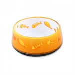 AFP Cat Love Bowl Orange-bowls-The Pet Centre
