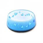 AFP Cat Love Bowl Blue-bowls-The Pet Centre