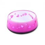 AFP Cat Love Bowl Pink-bowls-The Pet Centre