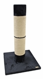 Petpals Titan Scratch Pole 1m Black-beds-|-scratchers-The Pet Centre
