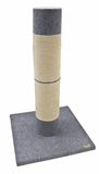 Petpals Titan Scratch Pole 1m Grey-beds-|-scratchers-The Pet Centre