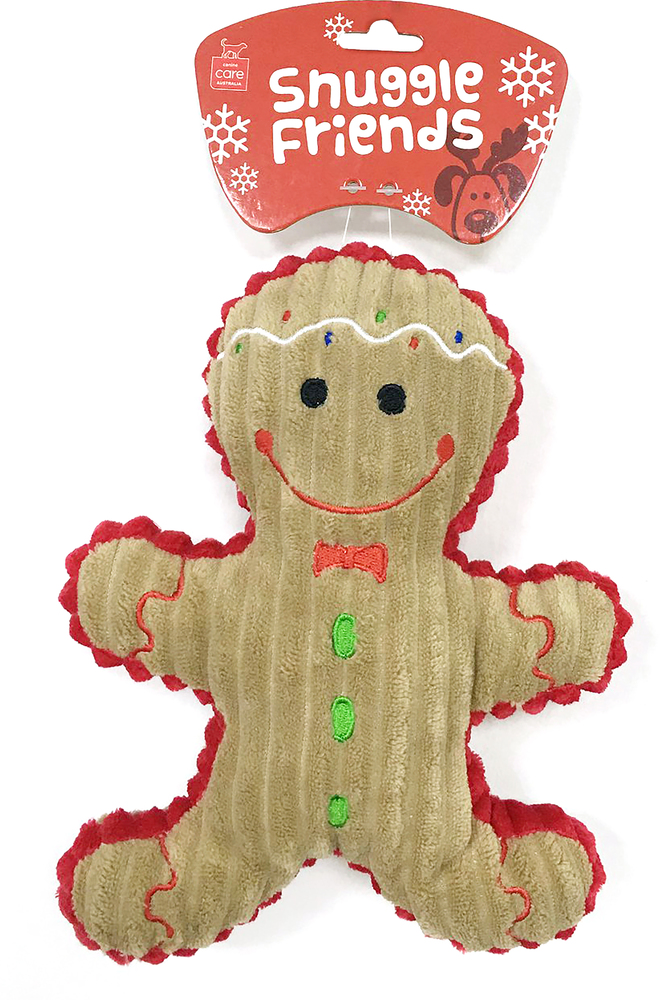 Snuggle Friends Christmas Gingerbread Man Toy Dog The Pet Centre