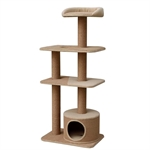 Petpals Spire Scratch Tower 129cm-beds-|-scratchers-The Pet Centre