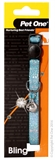 Pet One Sparkle Cat Collar 30cm Blue-breakaway-The Pet Centre
