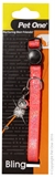 Pet One Sparkle Cat Collar 30cm Orange-cat-The Pet Centre