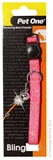 Pet One Sparkle Cat Collar 30cm Pink-cat-The Pet Centre