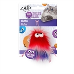 AFP Furry Ball Fluffer Red-catnip-The Pet Centre