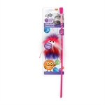 AFP Furry Ball Fluffer Wand Red-teasers-The Pet Centre