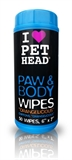 Pet Head Paw and Body Wipes - Orangelicious 50pk-dog-The Pet Centre