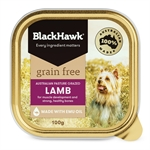 Black Hawk Dog Grain Free Lamb Tin 100g-dog-The Pet Centre