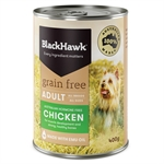 Black Hawk Dog Grain Free Chicken Can 400g-dog-The Pet Centre