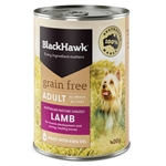 Black Hawk Dog Grain Free Lamb Can 400g-dog-The Pet Centre