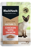Black Hawk Cat Mature 7+ Chicken w/ Salmon 85g-cat-The Pet Centre
