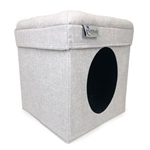 Cattitude Playbox - Grey-cat-The Pet Centre