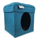 Cattitude Playbox Blue-cat-The Pet Centre