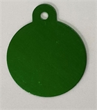 Personalised IMARC Circle Tag Large Green-dog-The Pet Centre