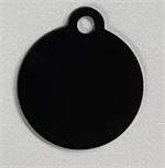Personalised IMARC Circle Tag Large Black-collar-tags-The Pet Centre