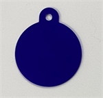 Personalised IMARC Circle Tag Large Blue-dog-The Pet Centre