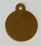 Personalised IMARC Circle Tag Large Gold-dog-The Pet Centre