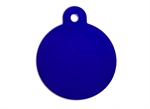 Personalised IMARC Circle Tag Large Purple-dog-The Pet Centre