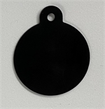 Personalised IMARC Circle Tag Small Black-collar-tags-The Pet Centre