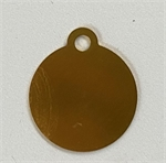 Personalised IMARC Circle Tag Small Gold-dog-The Pet Centre