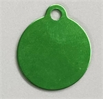 Personalised IMARC Circle Tag Small Green-dog-The Pet Centre