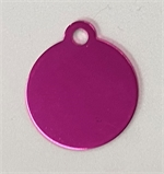Personalised IMARC Circle Tag Small Pink-dog-The Pet Centre