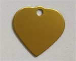 Personalised IMARC Heart Tag Small Gold-dog-The Pet Centre