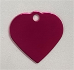 Personalised IMARC Heart Tag Small Pink-dog-The Pet Centre