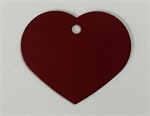 Personalised IMARC Heart Tag Small Red-dog-The Pet Centre