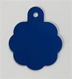 Personalised IMARC Rosette Tag Large Blue-dog-The Pet Centre