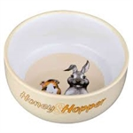 Honey & Hopper Ceramic Bowl 11cm-small-pet-The Pet Centre