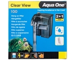 Aqua One H100 Clear View Hang On Filter-fish-The Pet Centre