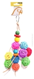 Avi One Leather Rope Toy Wood Ball 30cm-bird-The Pet Centre
