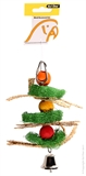 Avi One Loofah Beads & Straw Toy-bird-The Pet Centre