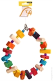Avi One Wooden Ring Beads Toy-bird-The Pet Centre