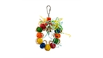 Braided Wreath with Vine Balls 12cm-wooden-The Pet Centre