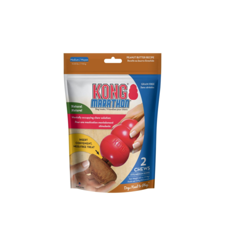Kong Marathon 2pk Peanut Butter Medium